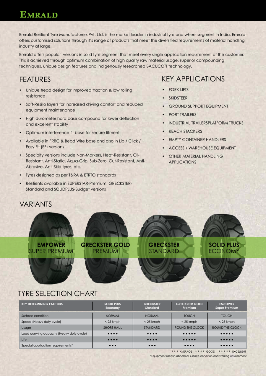 Emrald Tyres - Solid Resilient Tyres